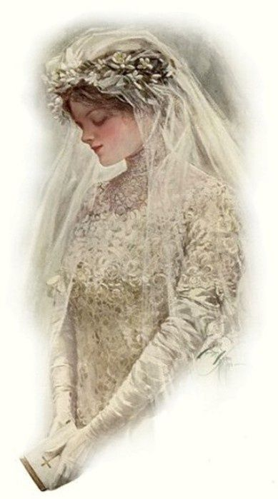 """The Bride"" by Harrison Fisher"