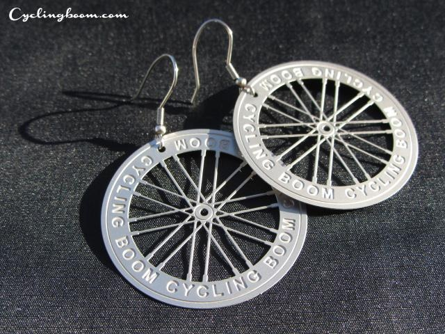 Earrings(Bicycle wheel) | Cycling boom products |Bicycle Inspired jewellery $8