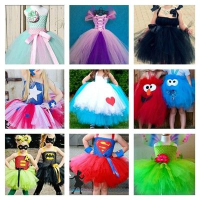 Tutu Costumes...I'm pinning this just for the Rapunzel outfit at the top...beautiful!
