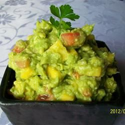 Mango Guacamole (serve as a condiment on homemade black beans) - Ree Drummond, The Pioneer Woman