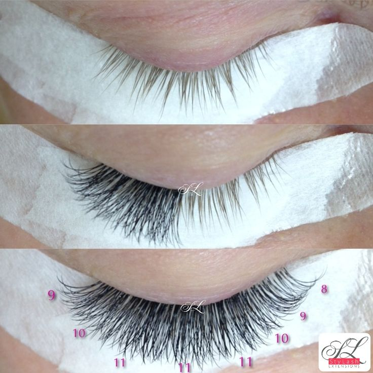 Volume mix 2-3d StyLash Extensions. Longer in a middle for opening eye effect. www.stylash.ca