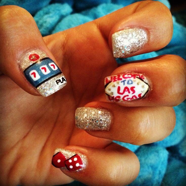 Las Vegas inspired nail art