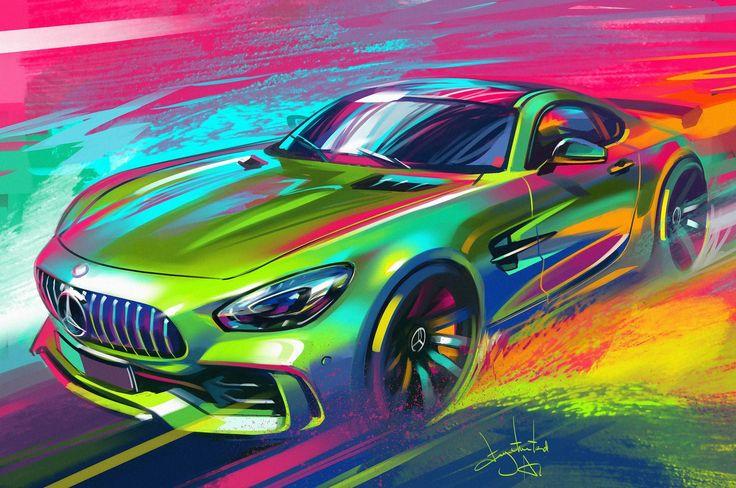 Mercedes sketch, Aleksandr Sidelnikov on ArtStation at https://www.artstation.com/artwork/b8ewa
