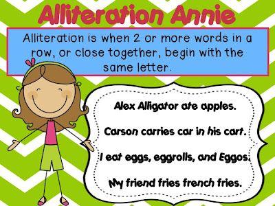 18 Best Alliteration Images On Pinterest Alliteration Teaching