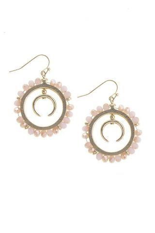 Beaded Hoop Earrings-All Things Lovely Shop-Women's Clothing & Accessories  www.allthingslovelyshop.com