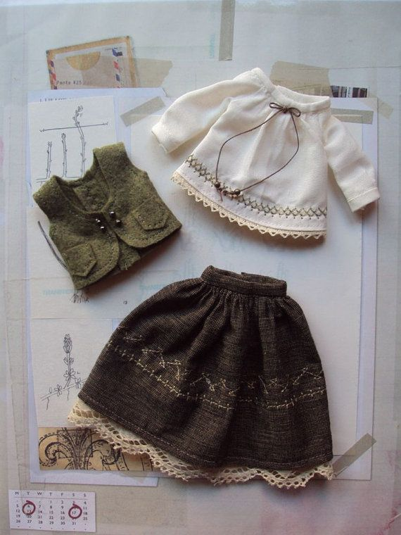 Gretel Outfit set for Blythe by moshimoshistudio on Etsy