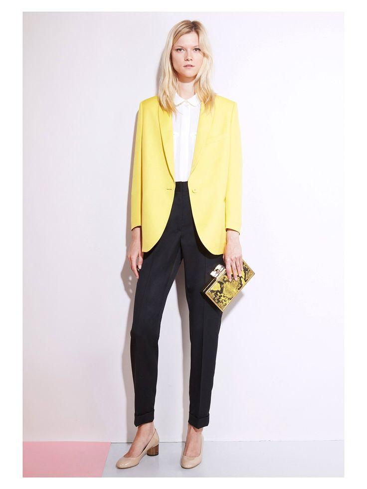 Veste blazer jaune pale