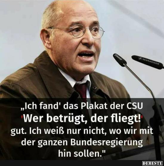 Ich fand' das Plakat der CSU.. | Sprüche, Lustige sprüche ...