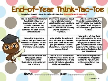 14 best tic tac toe choice boards images on pinterest teaching end of year tic tac toe choice board pronofoot35fo Choice Image