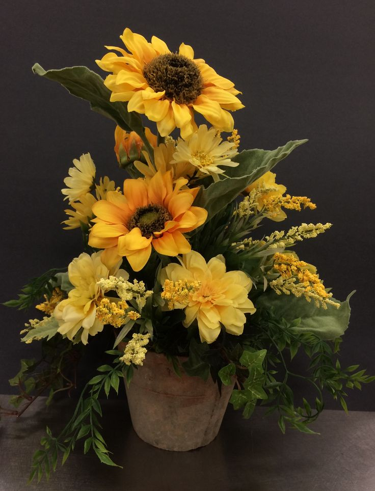 Classic Sunflowers by Andrea