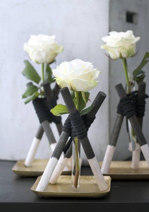 Een bloemenwigwam. blijmaakzooi.blogspot.nl