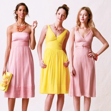 .: Bridesmaids, Colors Combos, Blushes E.L.F., Beautiful Colors, Mixed Colors, Dresses, Colors Combinations, Blushes Bridesmaid, J Crew Bridesmaid