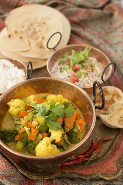 Indiase groentecurry
