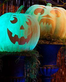 This glow-in-the-dark glowing pumpkins for Halloween.