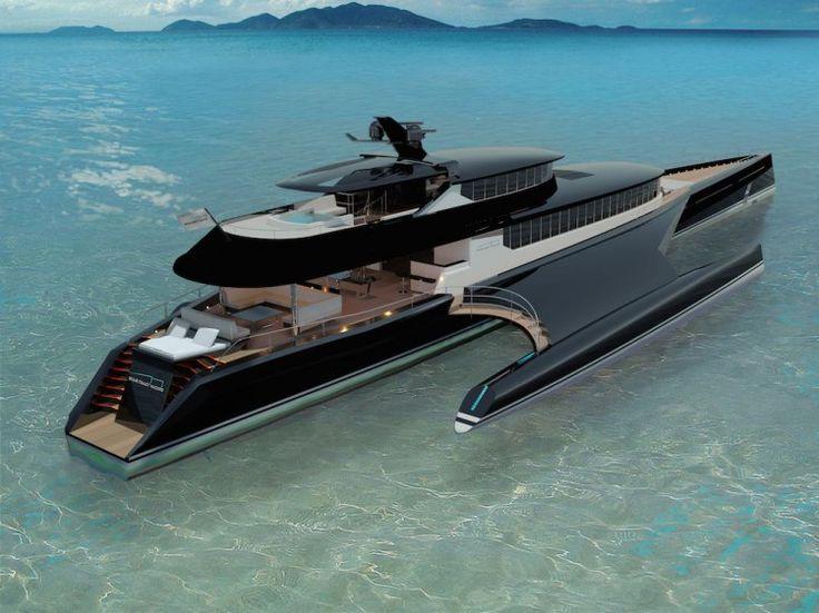 New 60m Hybrid Trimaran by Blue Coast Yachts