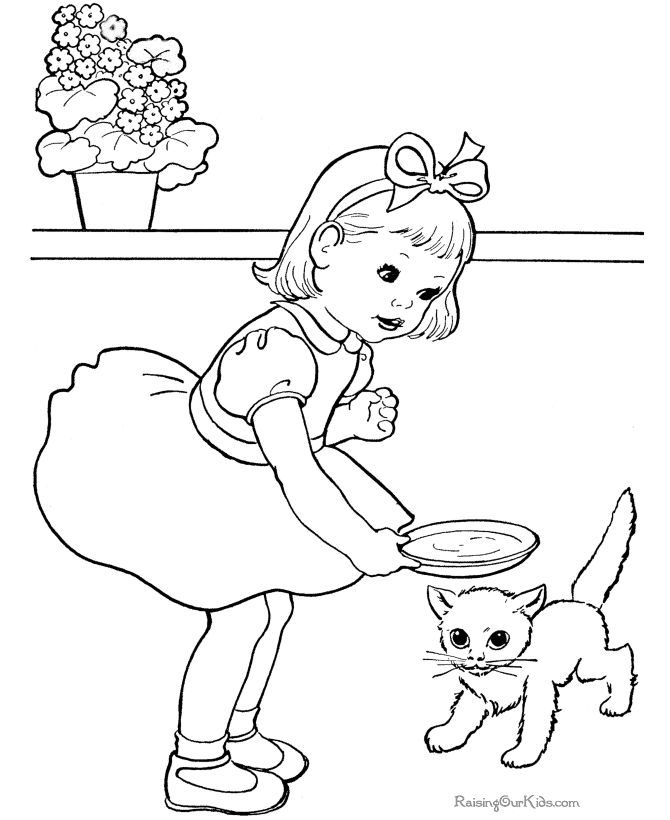 cute free kids printables - Kids Drawing Sheet