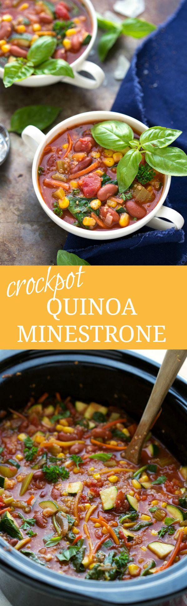 Easy Crockpot Quinoa Minestrone