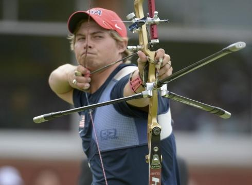 Brady Ellison and his U.S. teammates took a surprise silver in the team archery competition on Saturday.