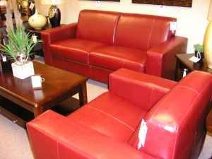 new red leather sofa u0026 chair 899 ocala