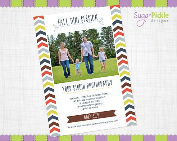 Mini Session, Fall Mini Session, Fall Template, Fall Flyer, Mini - fall flyer
