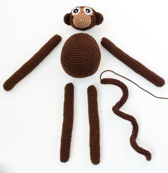 Crochet Monkey Pattern Amigurumi Monkey Pattern Crochet Toy
