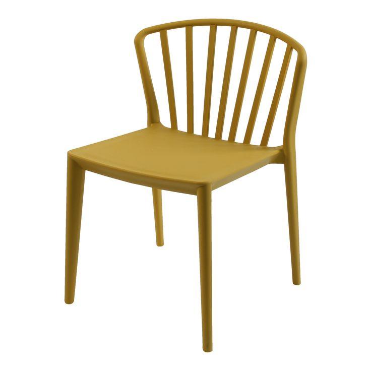 Eetkamer stoel  O5 Spijlenstoel geel   LOODS 5