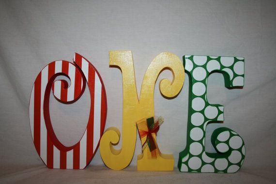 1st birthday centerpiece Circus birthday by WoodenWondersShop
