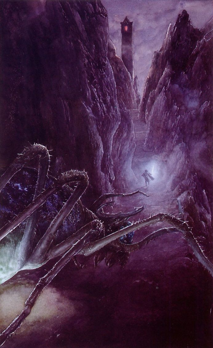 Shelob by Alan Lee | Middle-Earth | Drawing i Painting