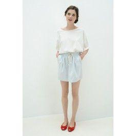 Short Sleeved T-Shirt Tricia White @ DES PETITS HAUTS