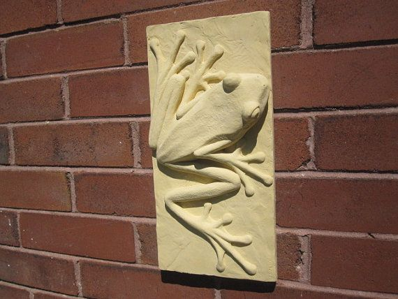 French Country Style Sculpture Tile Tree Frog by SculptureGeek, $49.95