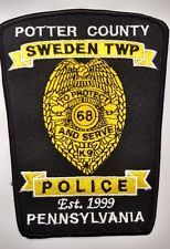 SWEDEN TWP PENNSYLVANIA  POLICE PATCH