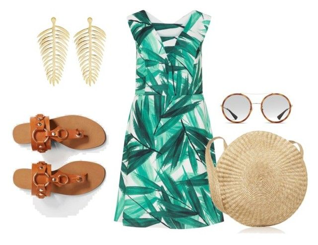 """tropical"" by aboutmetheblog on Polyvore featuring Anna + Nina, MANGO, Studio 8 and Gucci"