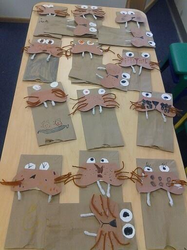 Walrus puppets