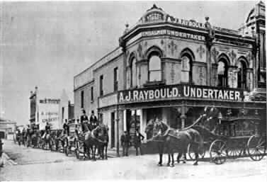 [Chapel Street premises of A.J. Raybould, undertaker ]