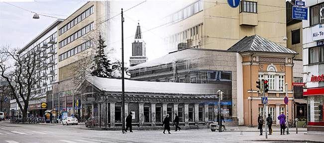 Julinin tontti Eerikinkadulla näyttää tänään kovin toisenlaiselta kuin 50 vuotta sitten. Jäljellä on kuitenkin vielä arkkitehti P. J. Gylichin vuonna 1828 suunnitteleman kaksikerroksisen rakennuksen Brahenkadun puoleinen koristeellinen pääty, joka on arkkitehti A. Fr. Granstedtin käsialaa.