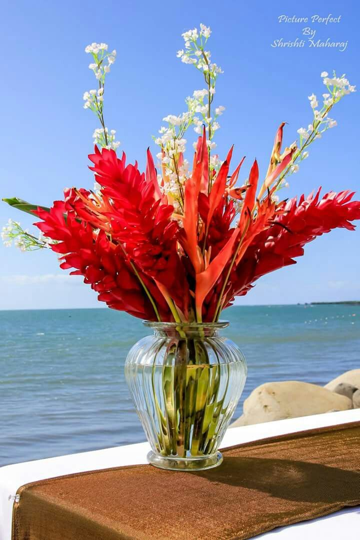 Ginger flower table centerpiece
