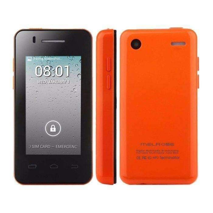 Orange Melrose S1 Card Mobile Phone 256mb+512mb Pocket Mini Card Phone 2.4 Inch Touch Screen Android