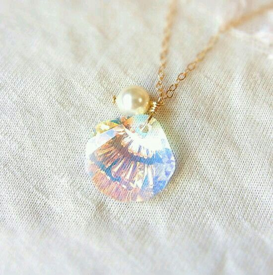 A seashell mermaid necklace