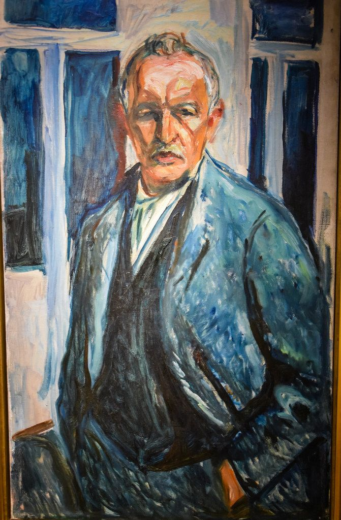 Edvard Munch - Self Portrait with Hands in Pockets, 1926 at Munchmuseet Oslo Norway