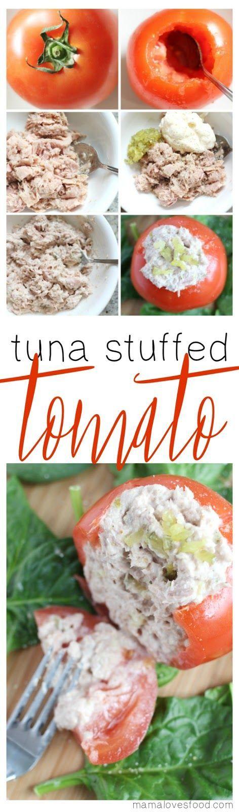 Tuna Salad Stuffed Tomato Recipe