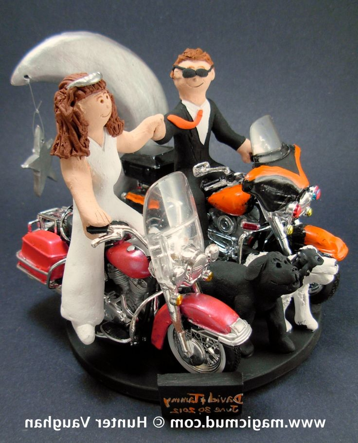 motorcycle couple wedding cake topper 25 best motorcycle ideas on biker 17606