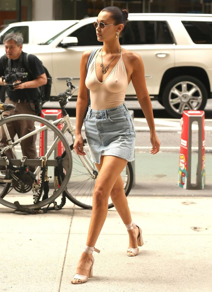 """""""Bella Hadid arriving at the Victoria's Secret Headquarters in New York City. August 2017.  """""""