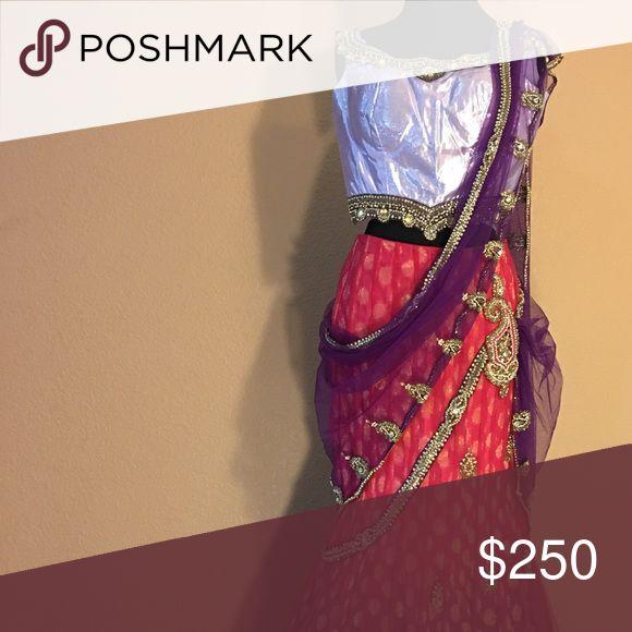 Lengha saree Worn once Dresses
