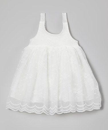 White Lace Babydoll Dress - Infant, Toddler & Girls #zulily #zulilyfinds