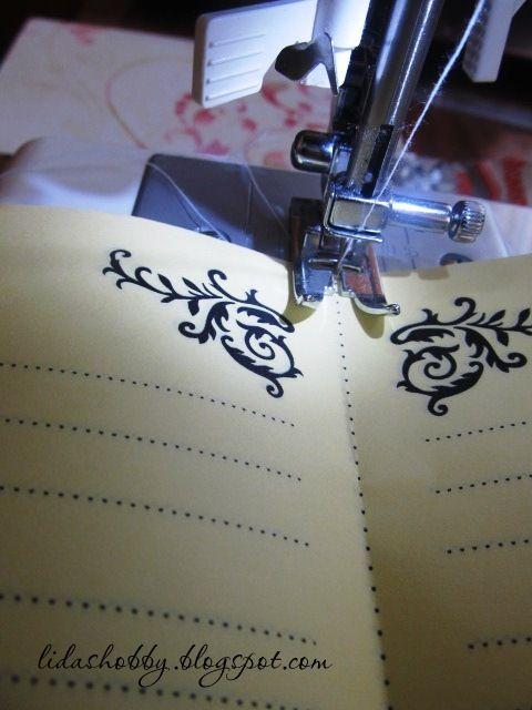 МК: Переплет на швейной машинке