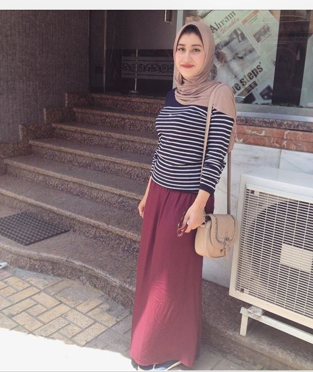 Maxi skirt style for muslimah dress