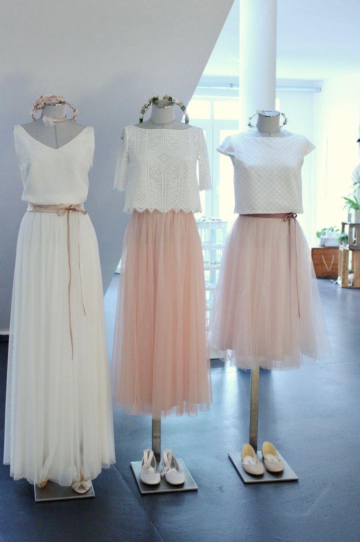 Moderne Brautkleider und zweiteilige Hochzeitsklei…