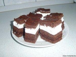 Csokis tejszínes szelet recept fotó