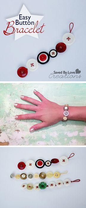 Make a Button Bracelet #jewelrymaking @savedbyloves