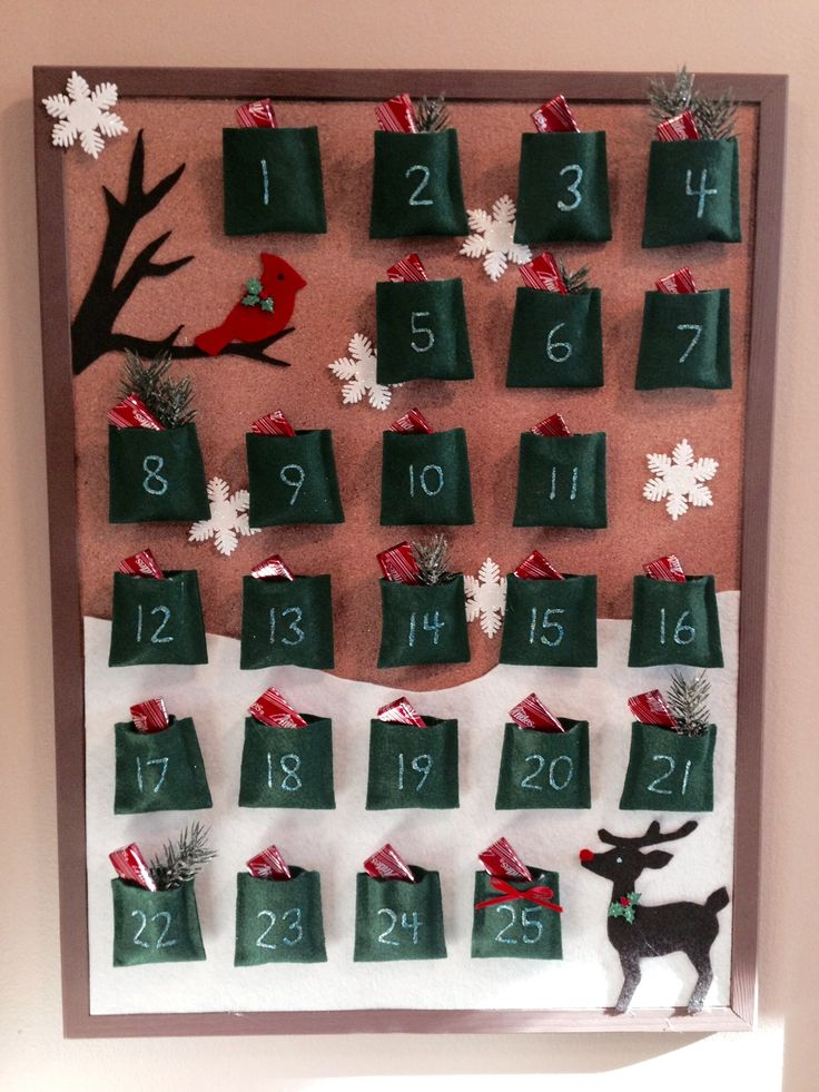 Advent Calendar Bulletin Board : Diy bulletin board advent calendar i saw one like this at